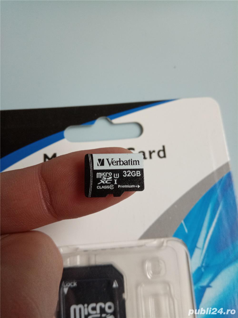 Micro sd Verbatim 32Gb (class 10 premium +)+adaptor+cititor card usb2.0