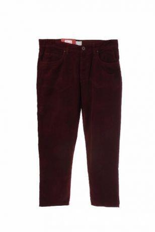 pantaloni dama de la BENETTON, din catifea raiata, culoare visiniu inchis, M, L, XL, 2XL