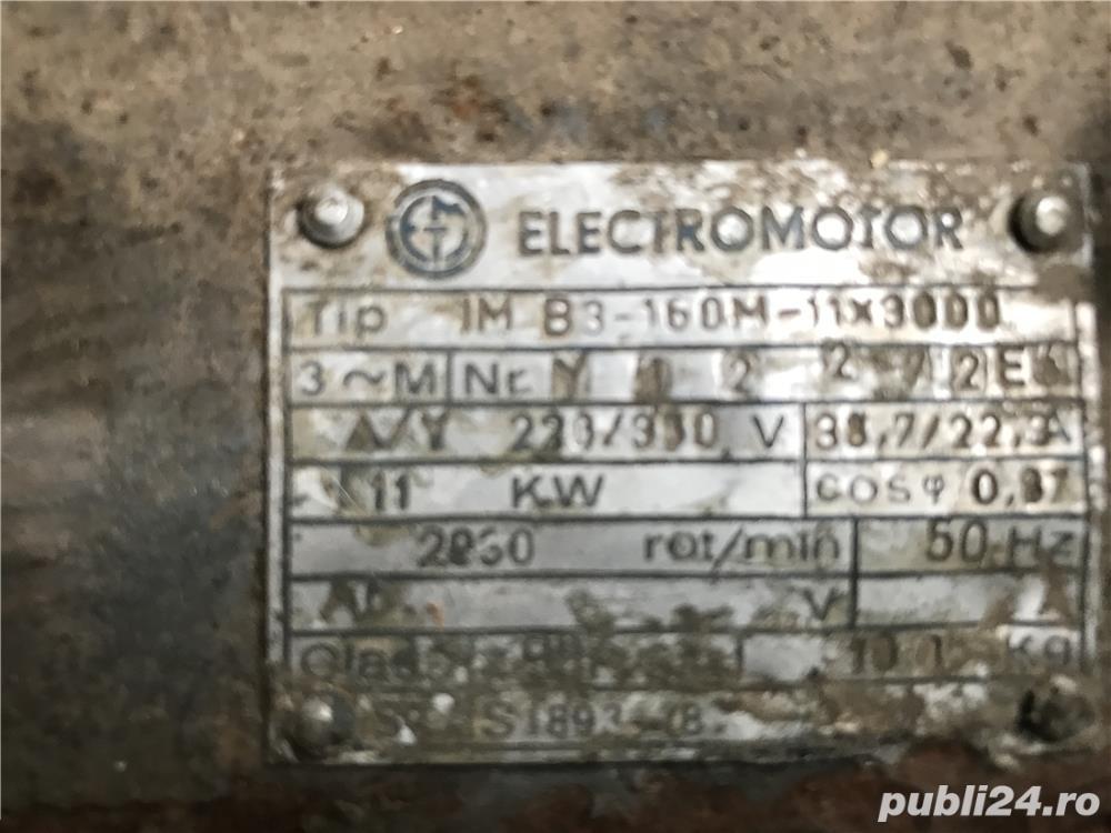 Motor electric 11 kw. 2830 Rot/min garantie
