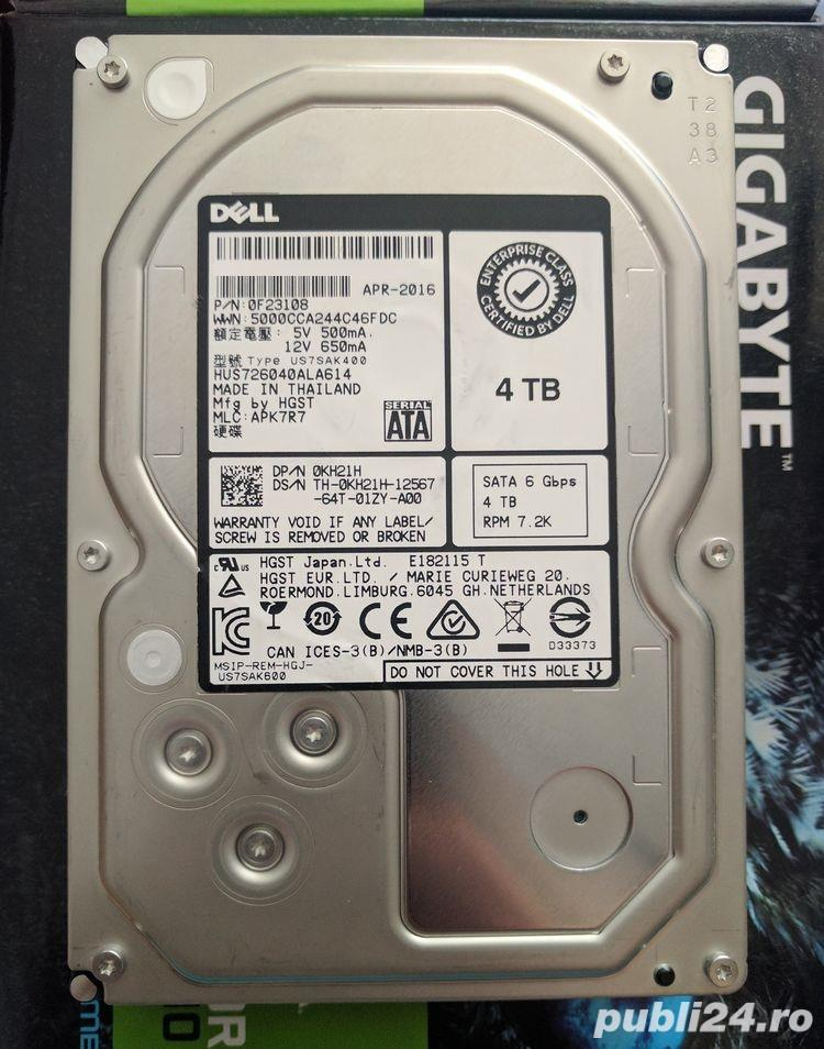 Hard disk 4TB Hitachi 128MB 7200rpm nou 3.5 Server PC Desktop NAS DVR hdd nou 4TB