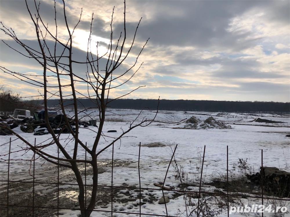Vand 6 ha teren intravilan la 50 m de DN 29 dupa Service Apetrans Hudum spre Ipotesti