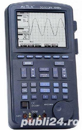 Metex - Osciloscop portabil + Multimetru + frecventmetru +logic tester, nou, certificat de garantie