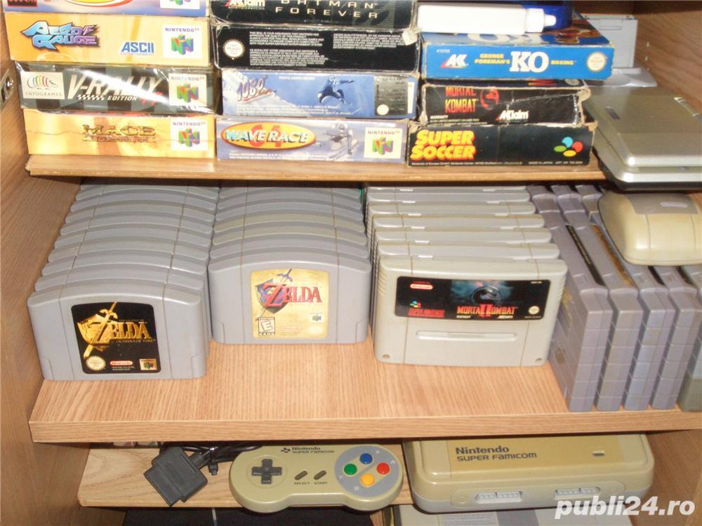 Nintendo n64 ,snes  ,nes,jocurii si console,accesorii (schimb)