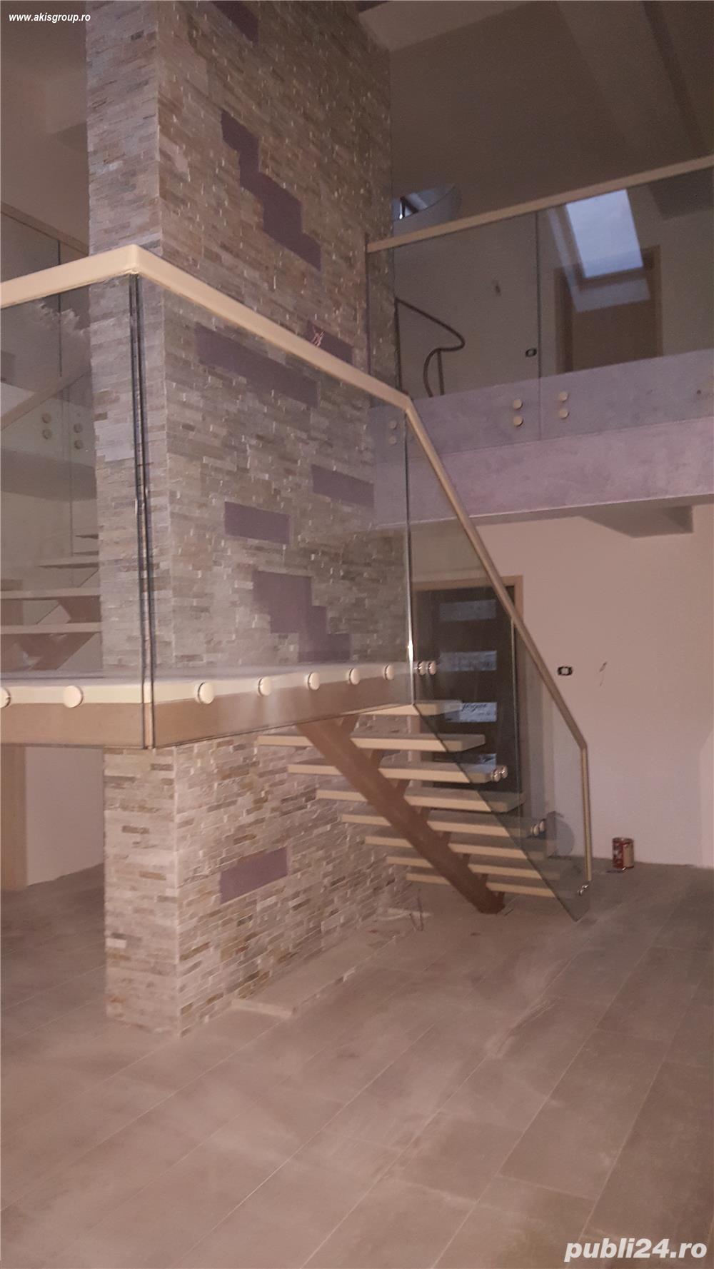 Asamblare+montaj balustrada sticla
