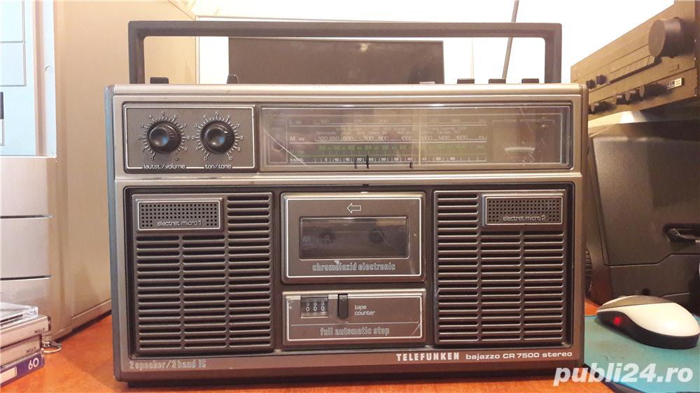 Boombox vintage Telefunken Bajazzo CR 7500 stereo