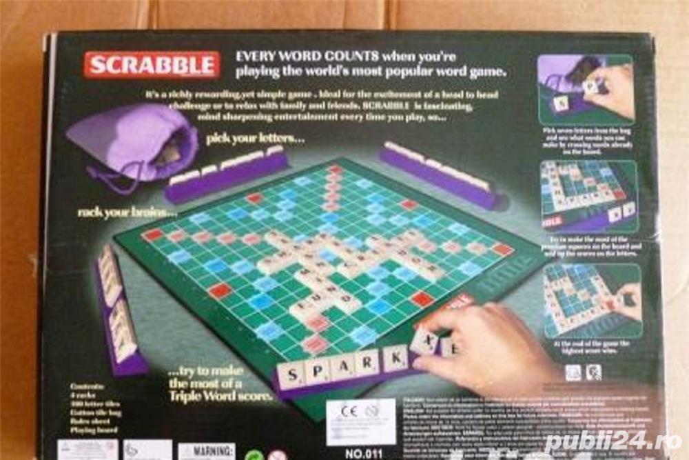 joc de scrabble mare,nou,nefolosit,in cutie,pretfix,rambursposta