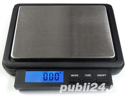 Cantar electronic de mare precizie cu platou inox - XC 2000g x 0.1g