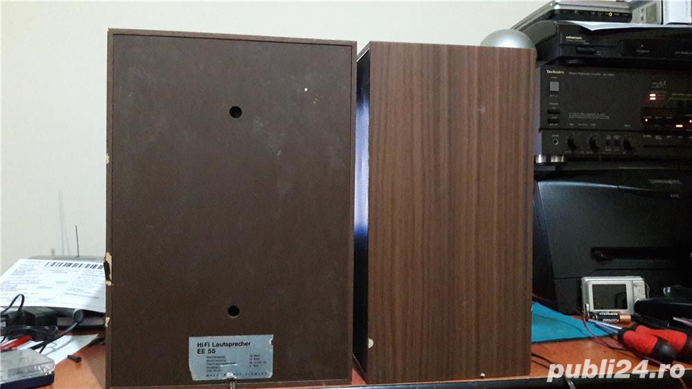 Boxe vintage HiFi EE-55, norma DIN 45500