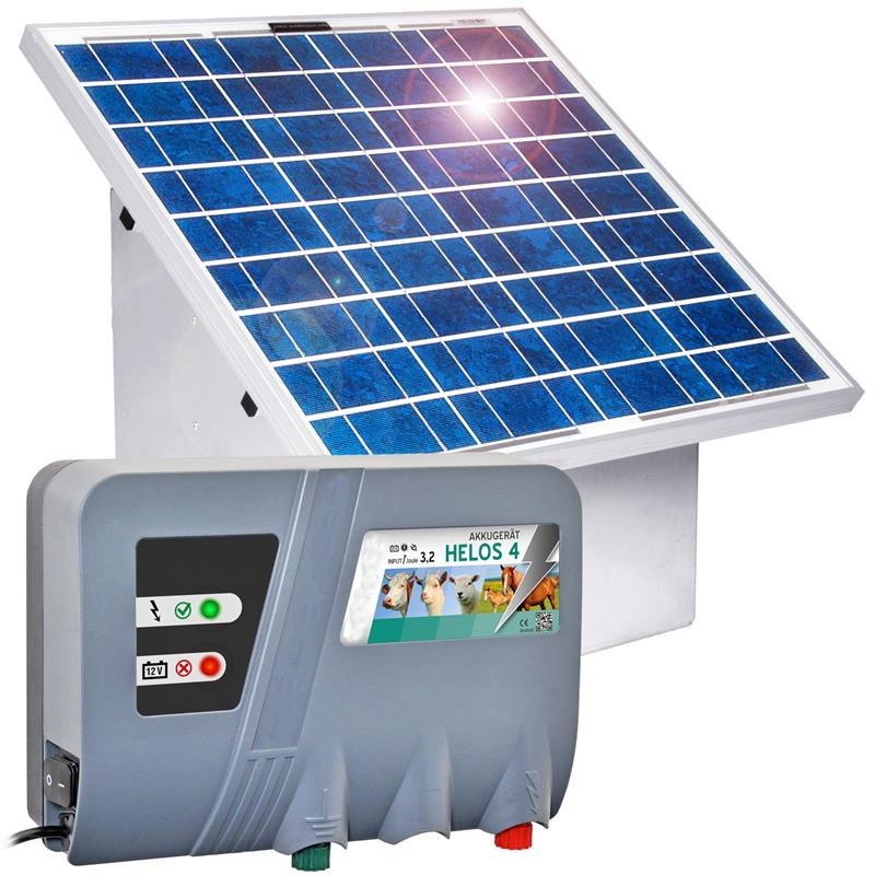 Gard electric Helos 4 + panou solar 35W + regulator incarcare