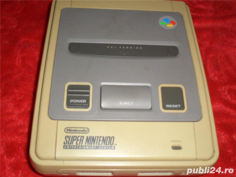 Joc Super Nintendo + Accesori si Jocurii (Schimb)