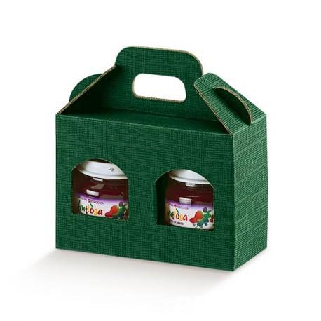 Cutii cadou din carton cu maner pentru 2 sau 3 borcane, cutii cadou dimensiuni variate de borcane