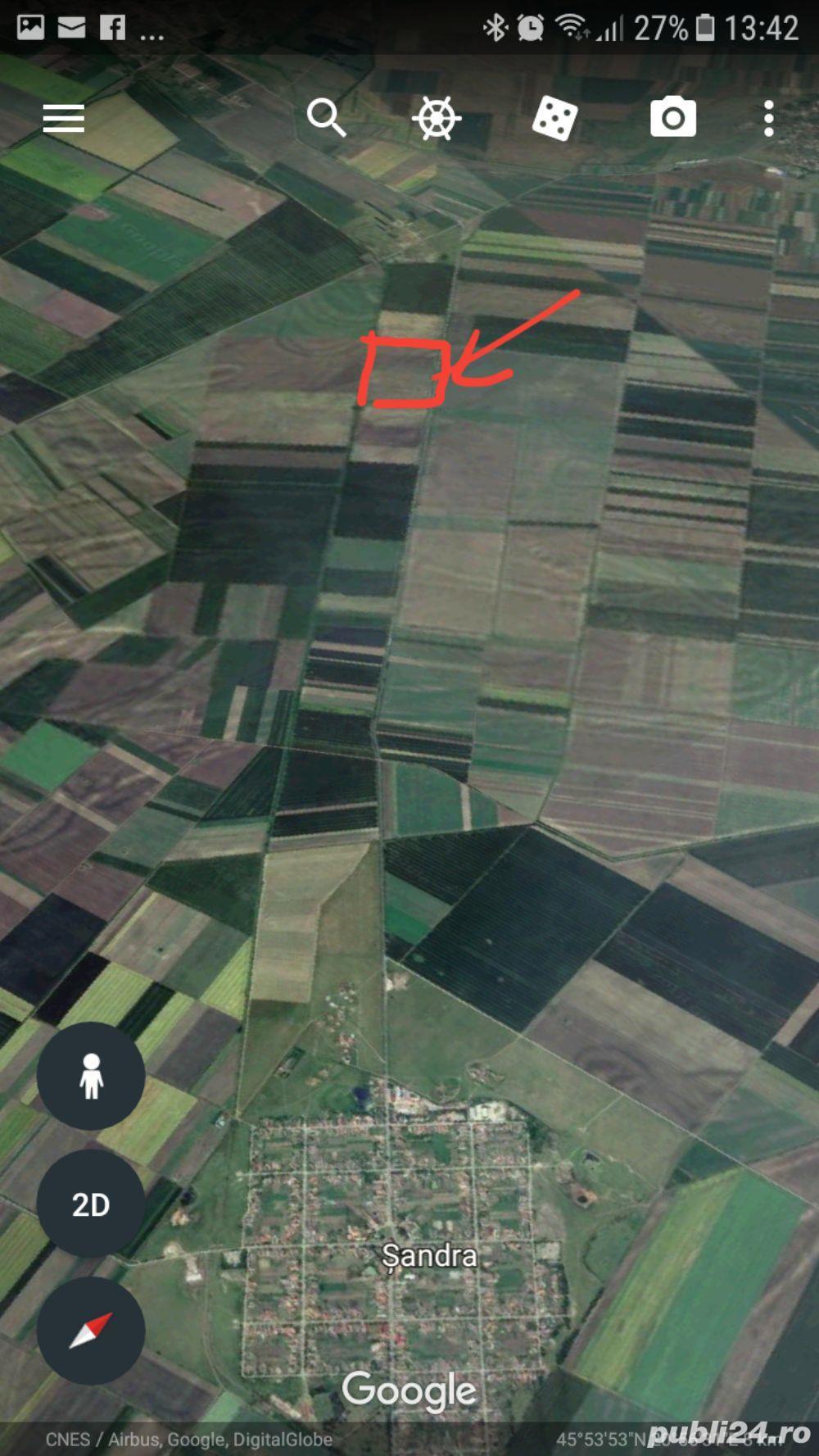 Teren extravilan 7 ha comasat la 40 km de Timisoara