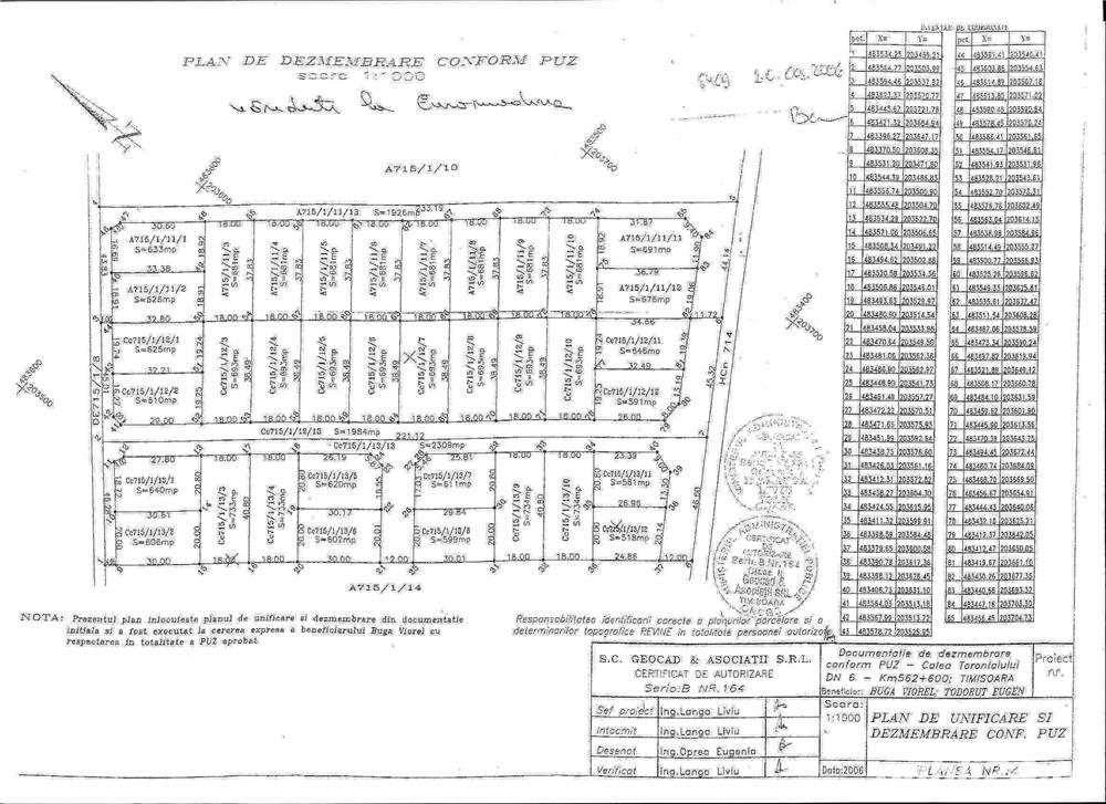 Vand 3 parcele teren intravilan Torontalului