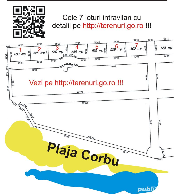 Teren Plaja Corbu Marea Neagra intravilan zona VIP