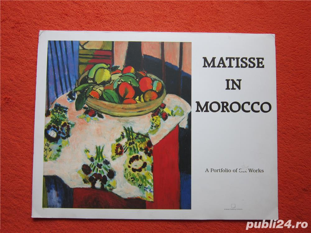 Mapa vintage Matisse in Marocco - Printbook -4 postere, 1990
