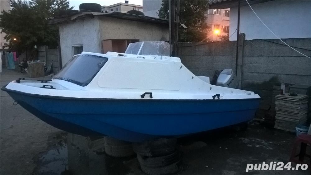 """barca cu cabina Dory 13""""+ Honda 40 cp 4 timpi"""