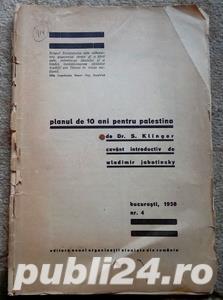 Planul de 10 ani pentru Palestina, Dr. S. Klinger, 1938