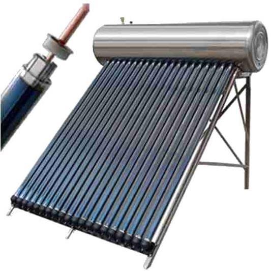 Panou solar presurizat cu interior si exterior din INOX 200L