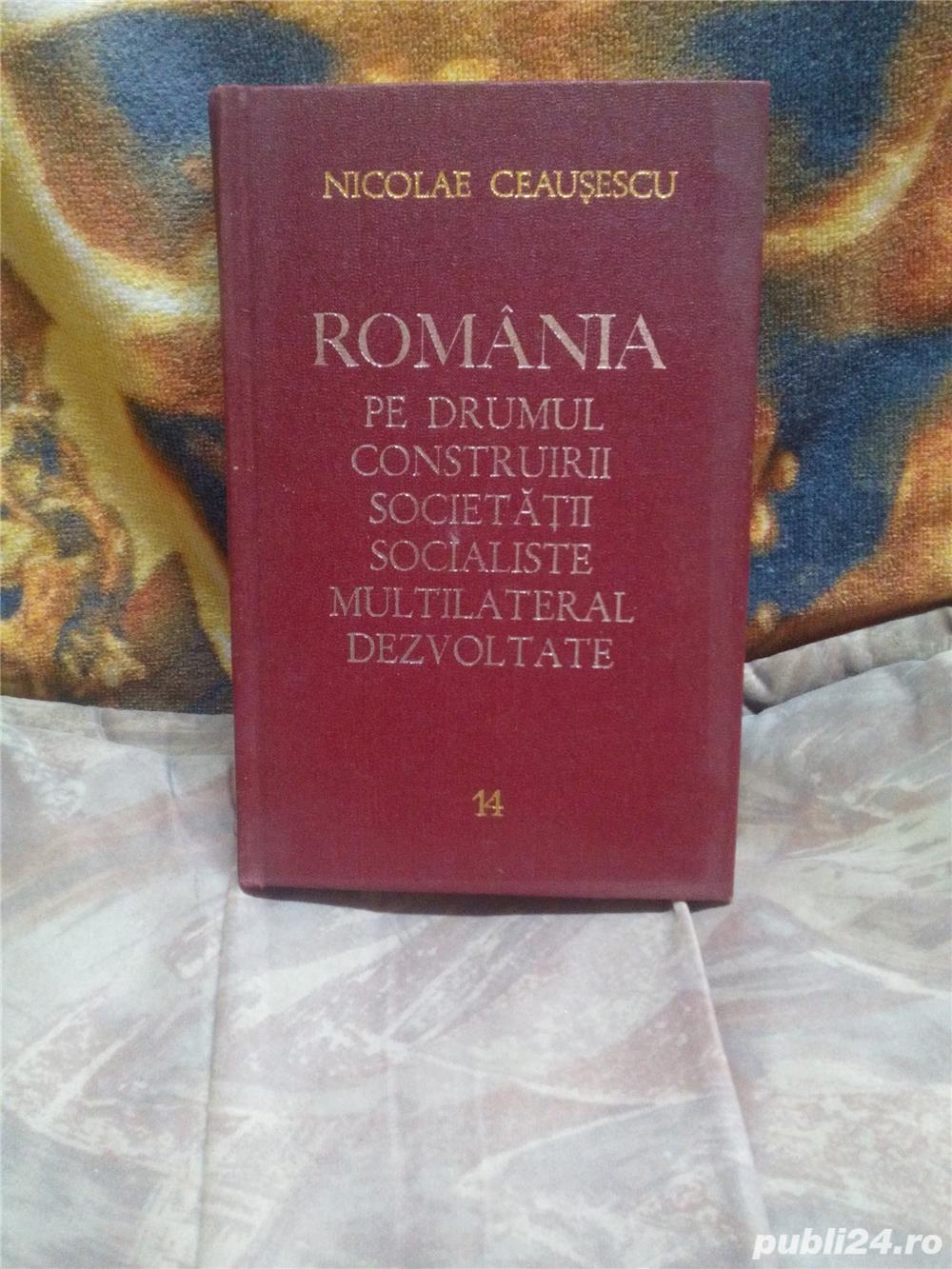 Romania pe drumul construirii societatii  socialiste Vol 14