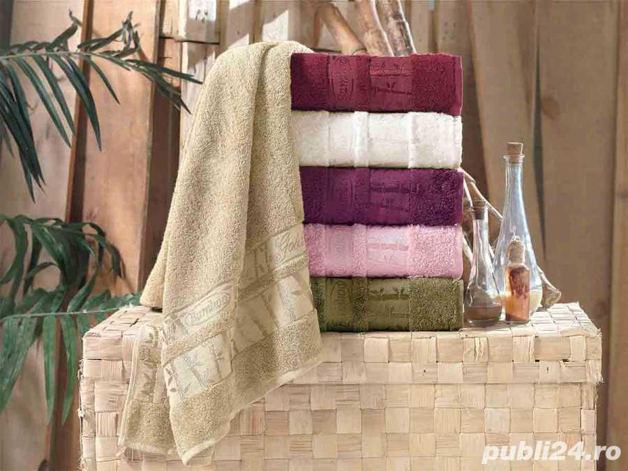Set 6 Prosoape Colorate din Bumbac 100% Bamboo Gold 50 x 90 cm