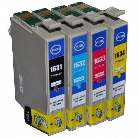 Set 4 Cartuse imprimanta Epson 16XL, T1635 ( T1631 + T1632 + T1633 + T1634 ) compatibile