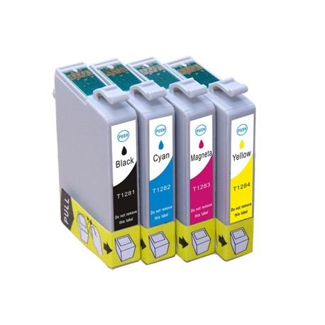 Set 4 cartuse imprimanta Epson T1281/T1282/T1283/T1284 compatibile