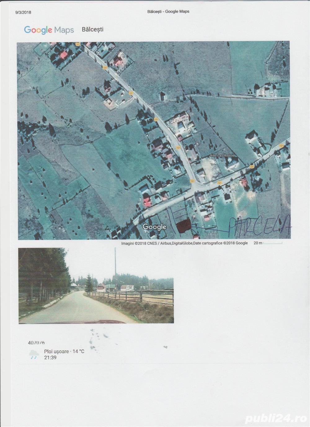 Teren in Belis- Balcesti, 570mp, 6900 euro