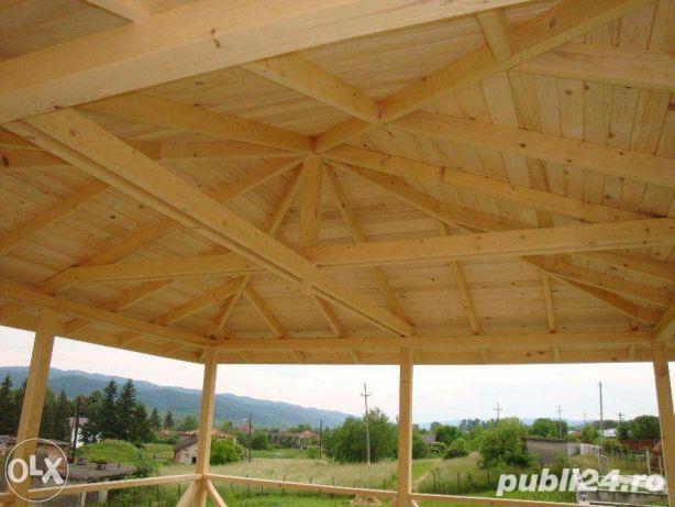 Foisoare, terase din lemn