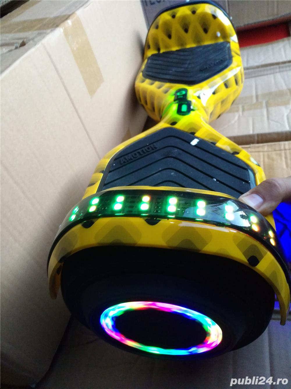 Hoverboard bluetooth full led yellow
