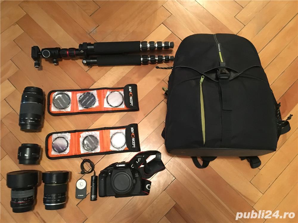 Canon EOS 600D cu 2 obiective si accesorii