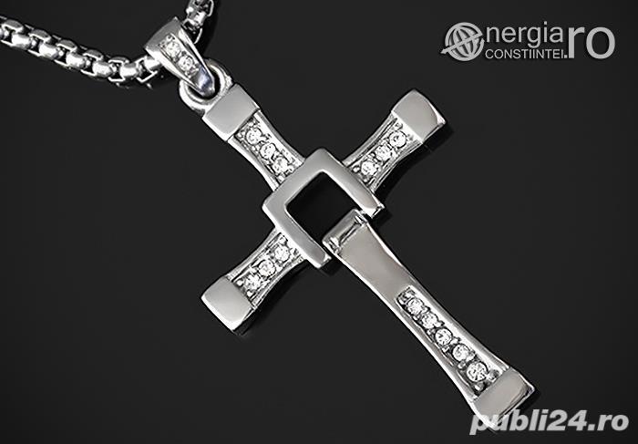 Pandantiv Cruciuliţă Cruce Crucifix Dominic Toretto Vin Diesel Fast and Furious INOX - cod PND049