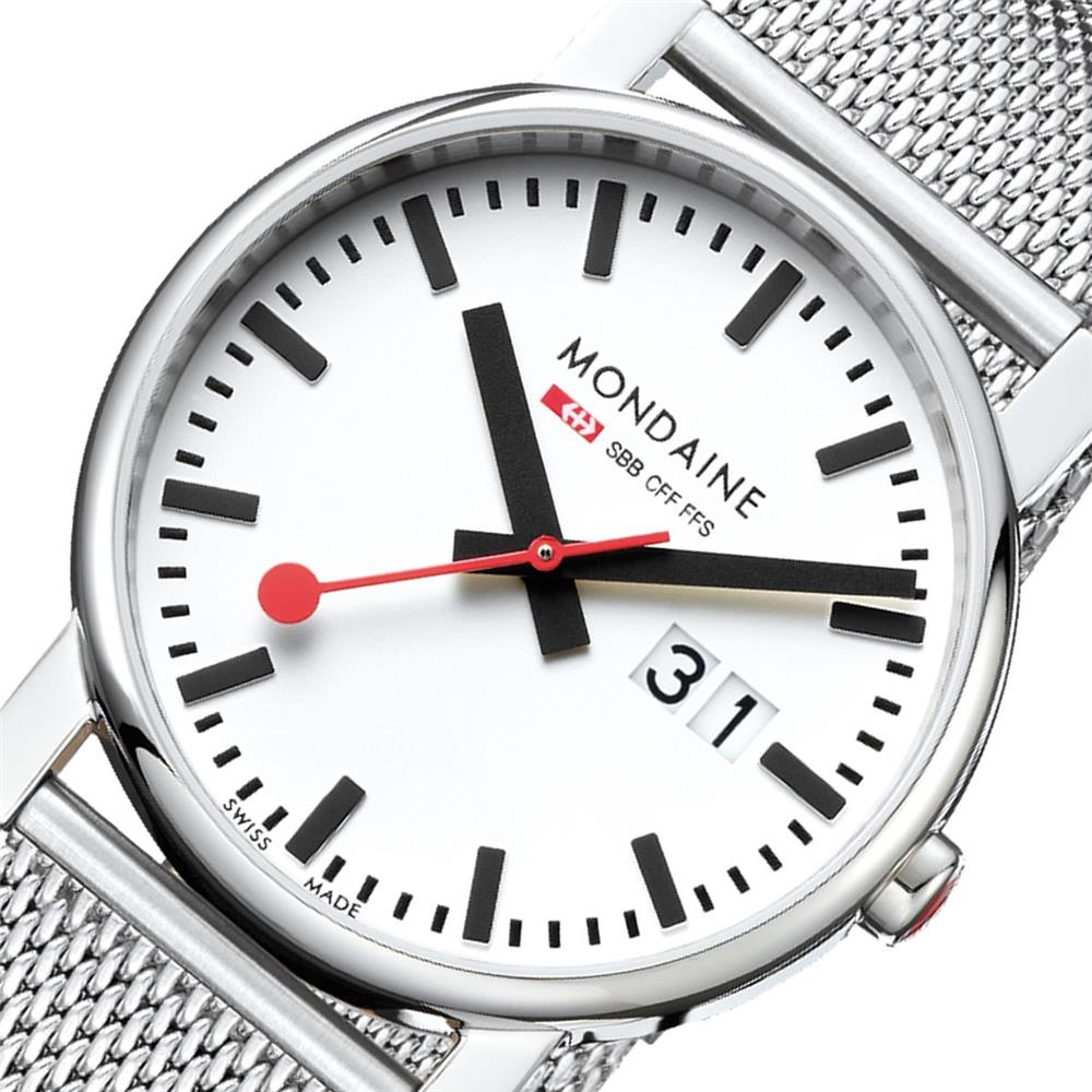 Mondaine Evo 40 Big Date Stainless Steel