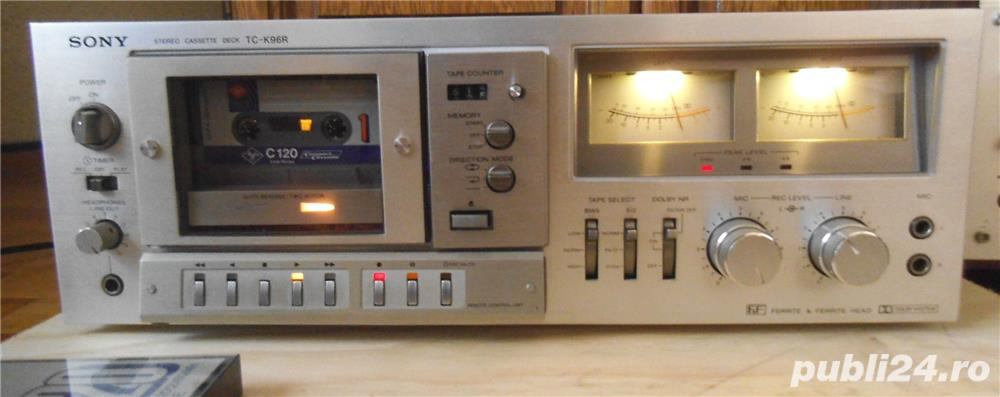 Deck SONY TC-K96R Ferrite Head 2 Motors Auto Reverse Cassette Deck