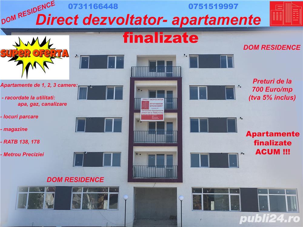 Direct Dezvoltator  Apartament 2 Camere in Militari Residence!
