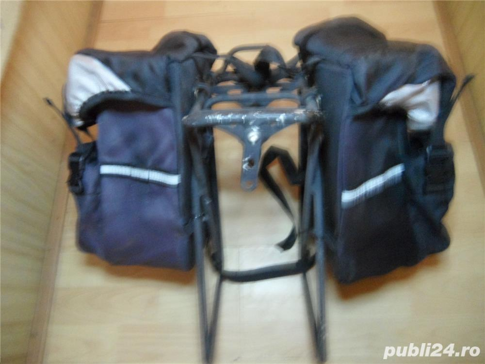 Portbagaj bicicleta cu gentute