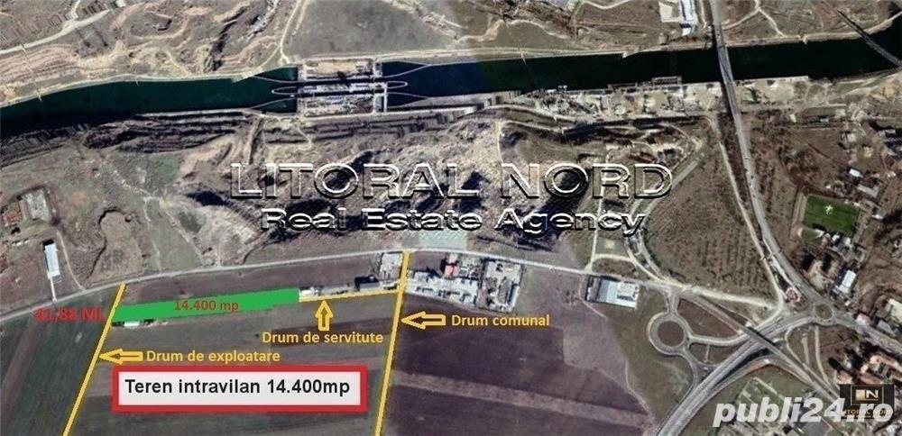 Ovidiu, teren intravilan 14.400 mp, pentru activitati industriale si comerciale