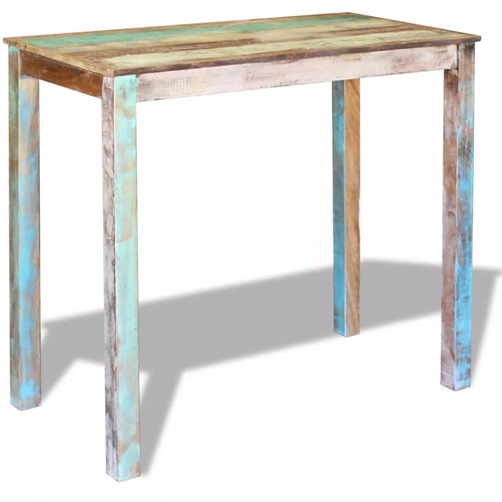 vidaXL Masă de bar, lemn reciclat de esență tare, 115x60x107 cm 243453