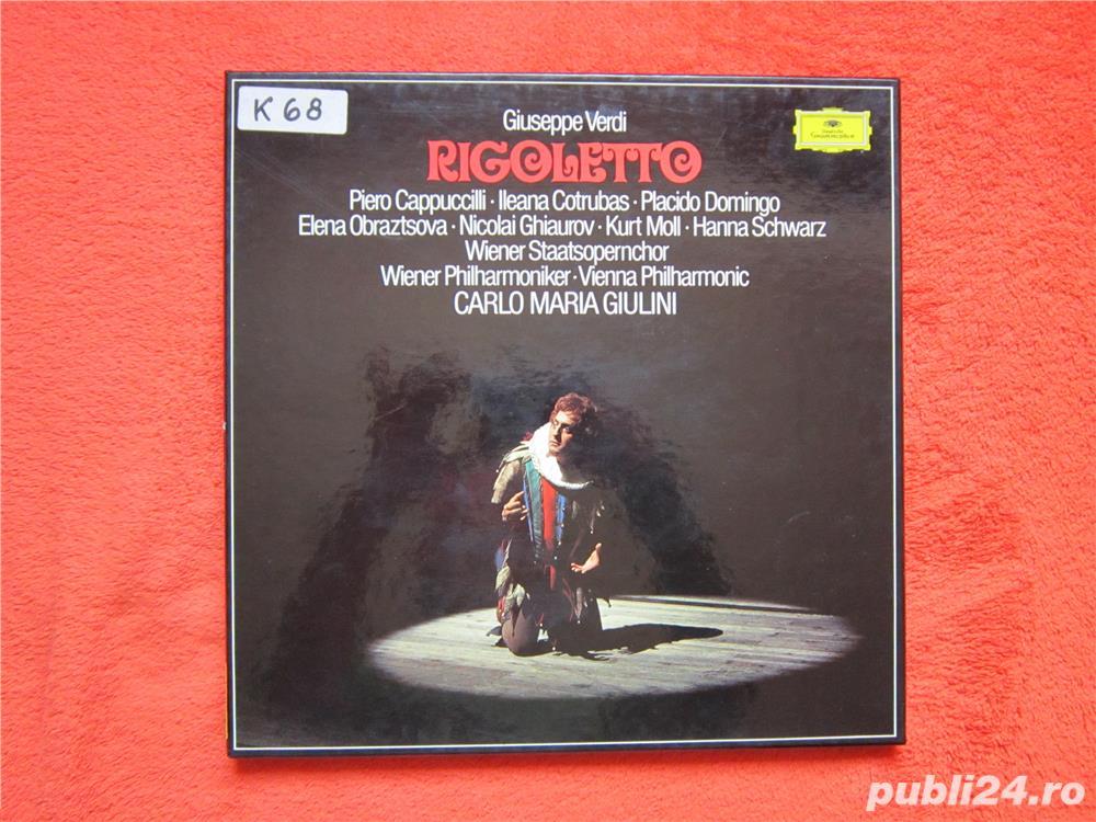 vinil 3xLP Verdi- Rigoletto -Ileana Cotrubas,Plácido Domingo-impecabil