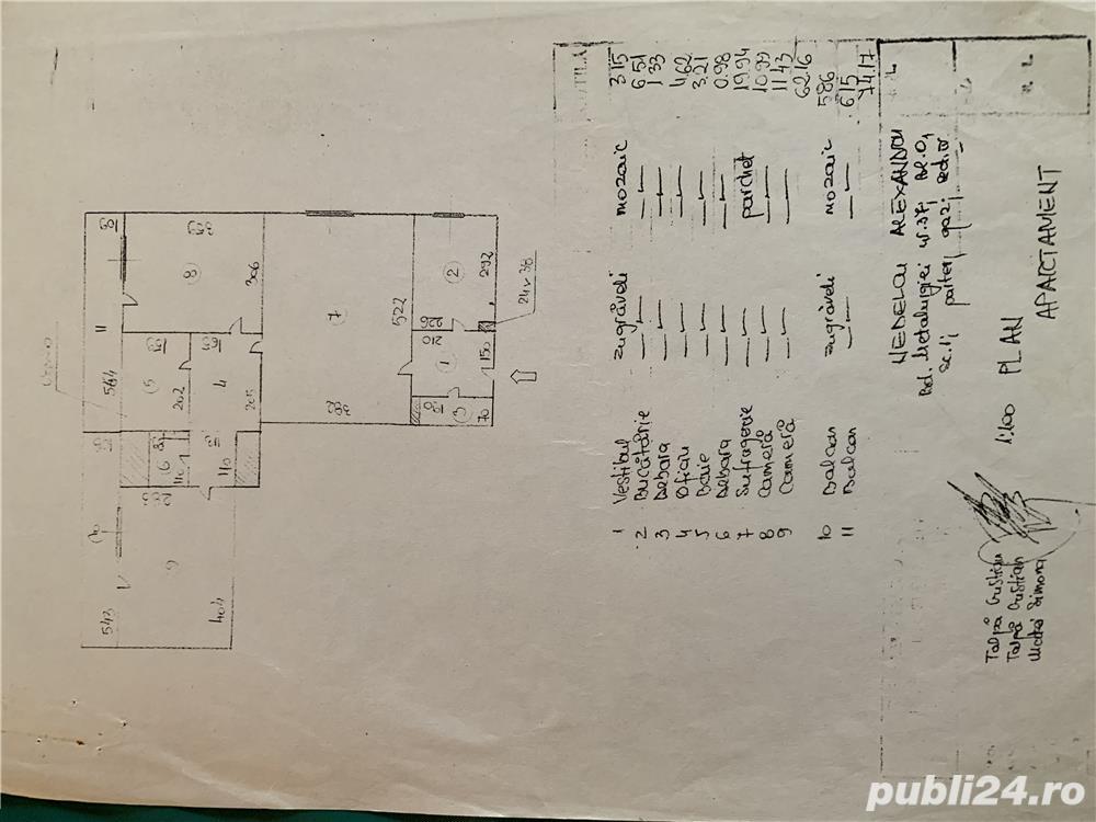 Vanzare  apartament  cu 3 camere Bucuresti, Metalurgiei  - 62 EURO
