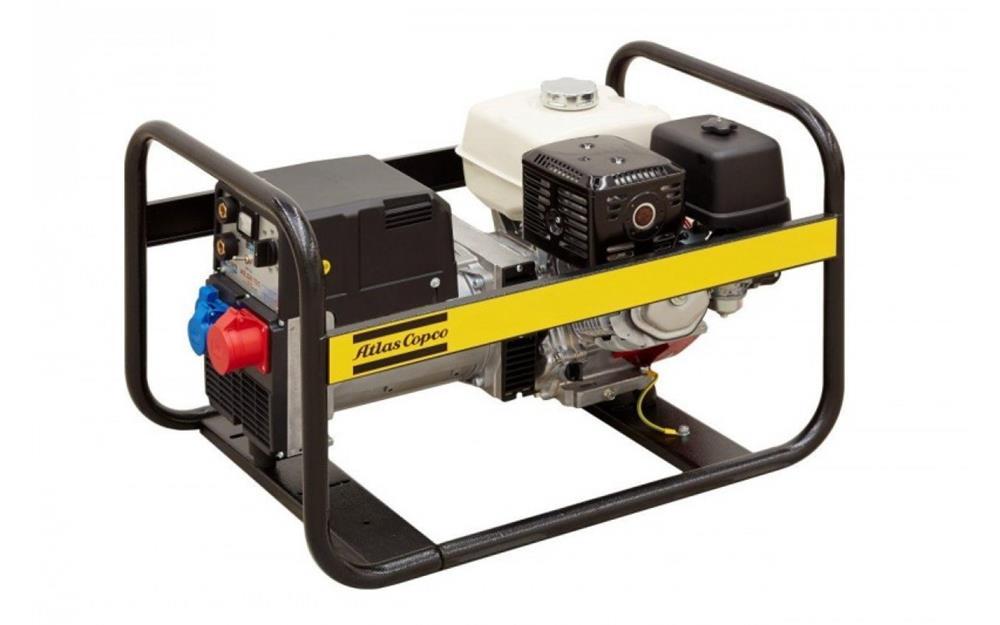 INCHIRIEZ Generator de curent Atlas Copco cu aparat sudura inclus QEP W210, 5500W, trifazic,