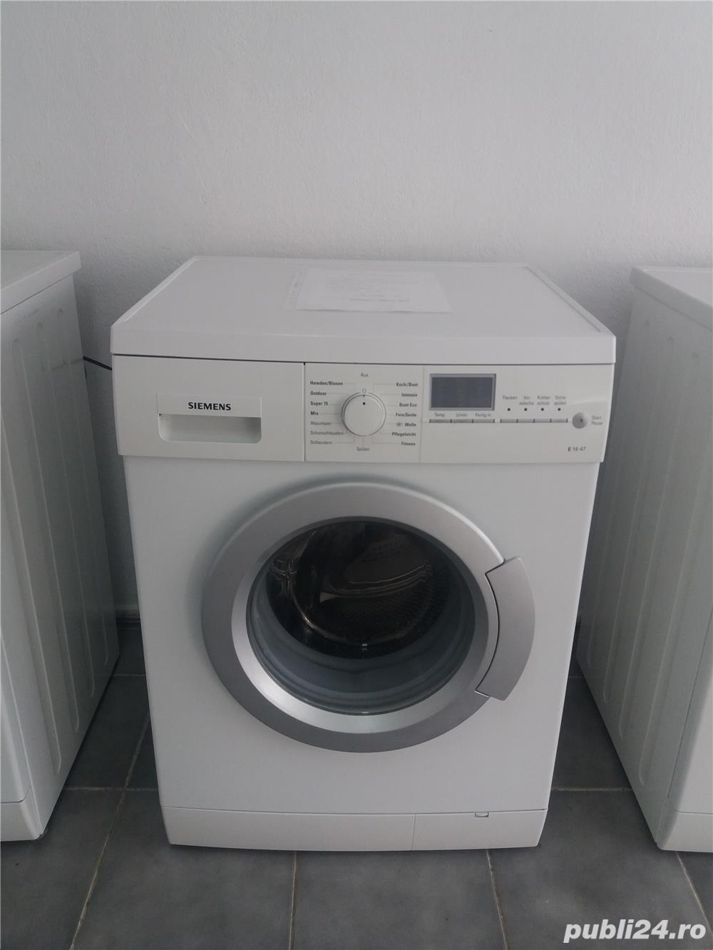 Masina de spălat rufe Siemens. 6 kg. Model nou.