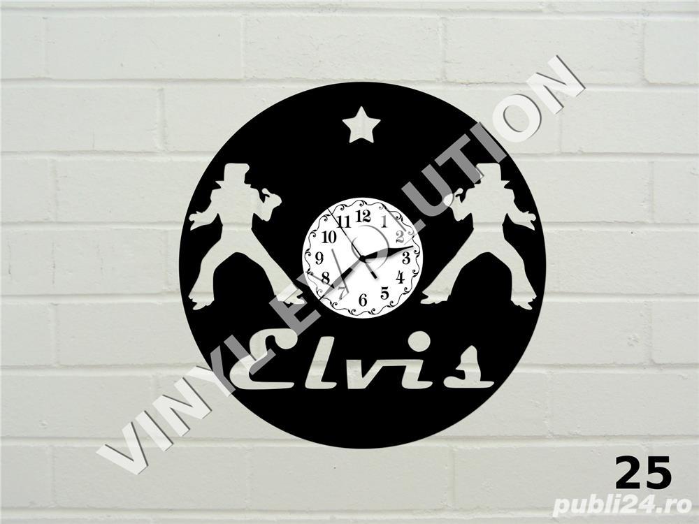 Ceas de perete din vinil Elvis