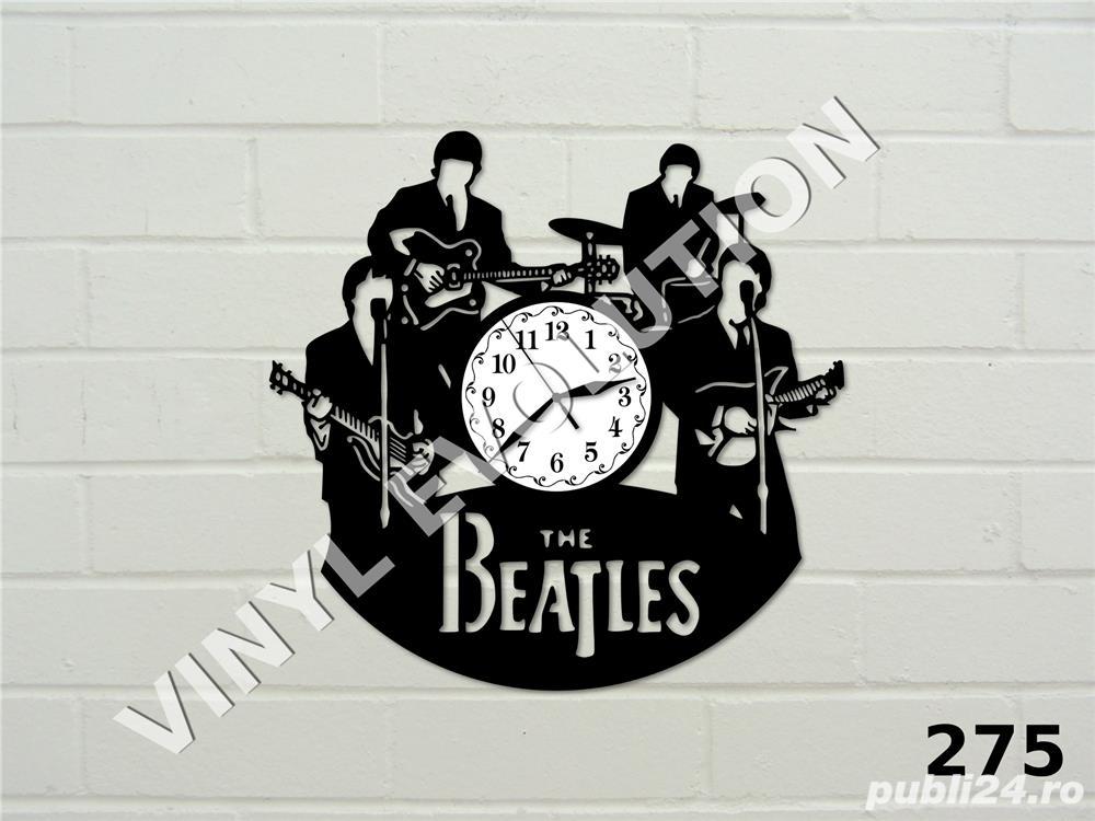 Ceas de perete din vinil The Beatles