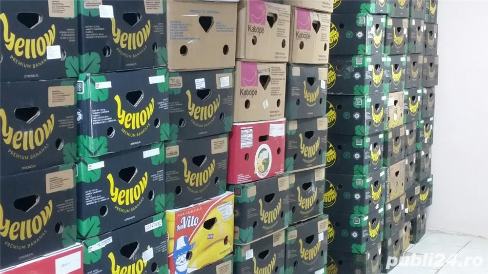 600 cutii, bax , banane, depozitat, transportat fructe,legume, diverse,mutari