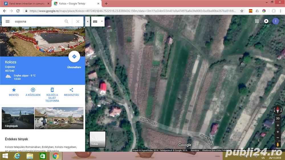 Vand teren intravilan in comuna Cojocna