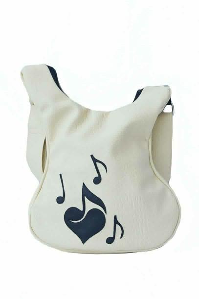 Geanta Ivory decorata cu note muzicale