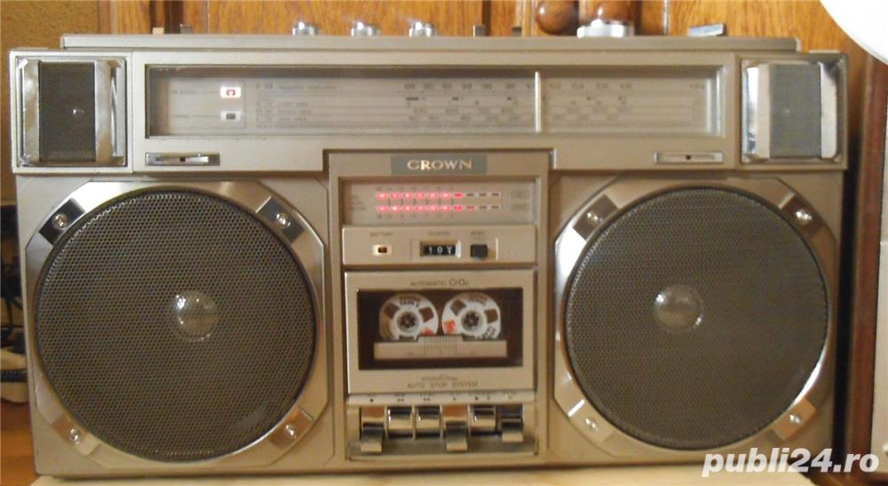 RADIO CASETOFON CROWN CSC-950L Hifi Stereo Sound System/16cm Speakers