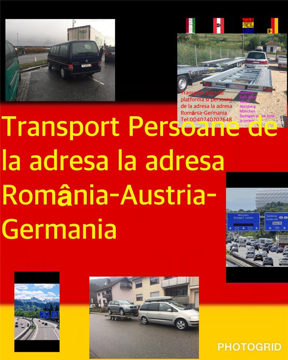 Transport persoane Germania-România