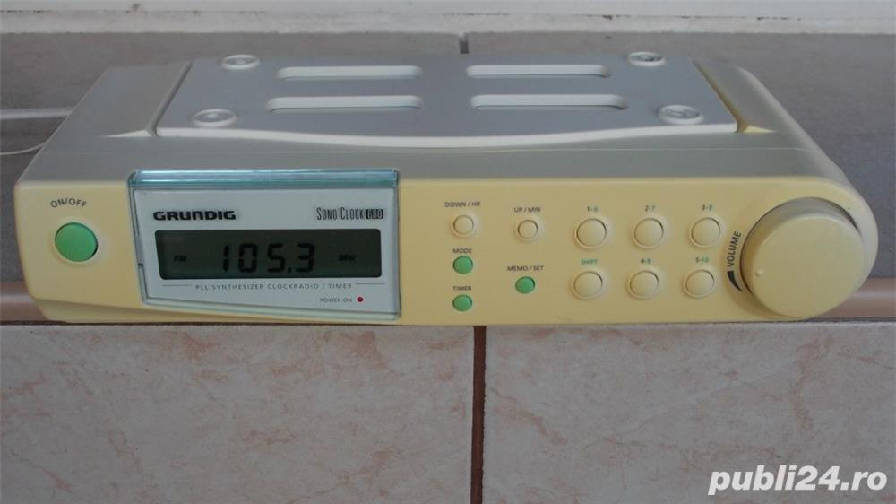 Radio Grundig Sono Clock 680 digital pt.bucatarie corp suspendat