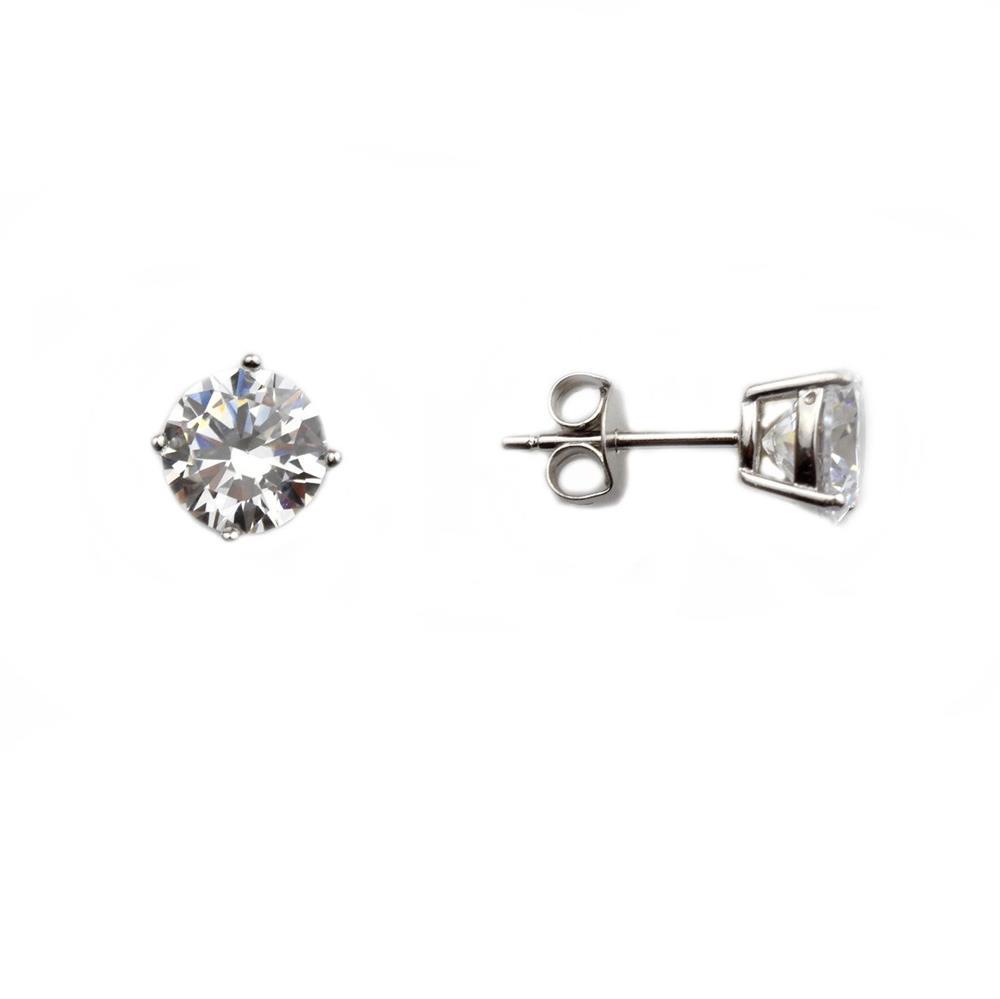Cercei argint rodiat zirconiu - DA147